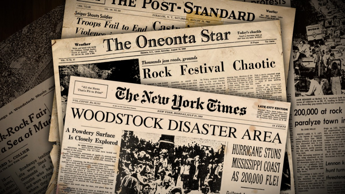 Video animatie 'Spining Newspapers'